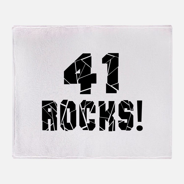 41 Rocks Birthday Designs Throw Blanket