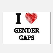 I love Gender Gaps Postcards (Package of 8)