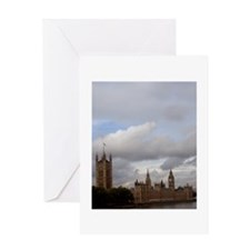 Castle on a distant shore greeting card.