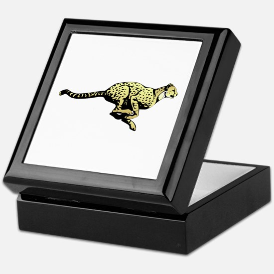 Yellow Cheetah with black dots Keepsake Box