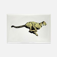 Yellow Cheetah with black dots Magnets