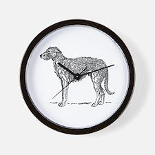 Deerhound Wall Clock