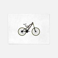 Mountain bike 5'x7'Area Rug