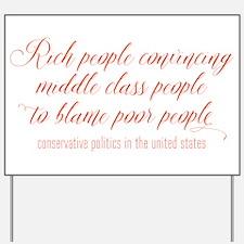 USA Conservative Politics Yard Sign