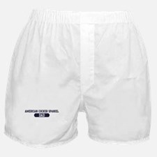 American Cocker Spaniel Dad Boxer Shorts