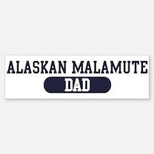 Alaskan Malamute Dad Bumper Car Car Sticker