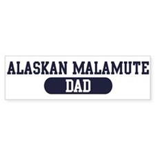 Alaskan Malamute Dad Bumper Car Sticker
