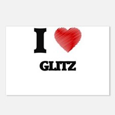 I love Glitz Postcards (Package of 8)