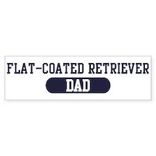 Flat-Coated Retriever Dad Bumper Bumper Sticker