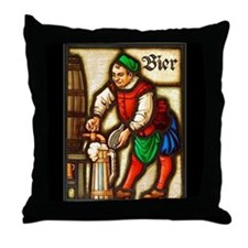 Bier Man Throw Pillow