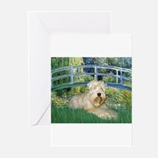 Cute Wheaten terrier christmas Greeting Cards (Pk of 10)