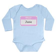 Cool Nametag Long Sleeve Infant Bodysuit