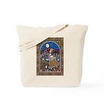 Folk Art Autumn Maiden Tote Bag