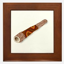 Didgeridoo Australian traditional musi Framed Tile