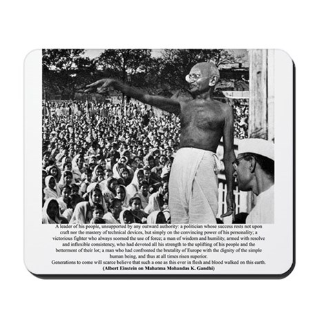 Inspirational Gandhi: Mousepad