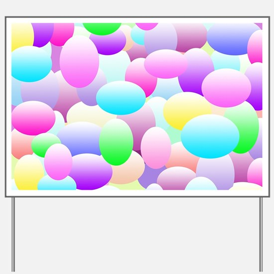 Bubble Eggs Light Yard Sign