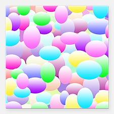 "Bubble Eggs Light Square Car Magnet 3"" x 3"""
