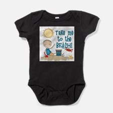 Cute Beach Baby Bodysuit