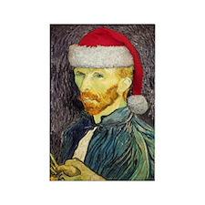 Van Gogh Santa Rectangle Magnet
