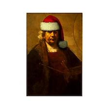 Rembrandt Santa Rectangle Magnet