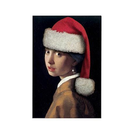 Vermeer Santa Rectangle Magnet