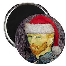 Van Gogh Santa Magnet
