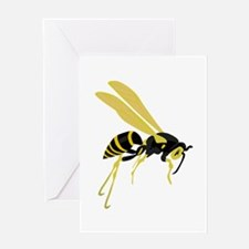 Flying Wasp Greeting Cards