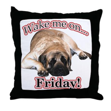 Mastiff Friday Throw Pillow