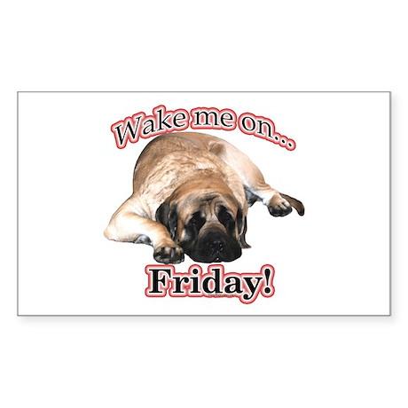 Mastiff Friday Rectangle Sticker
