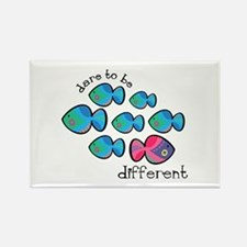 Dare To Be Different Rectangle Magnet