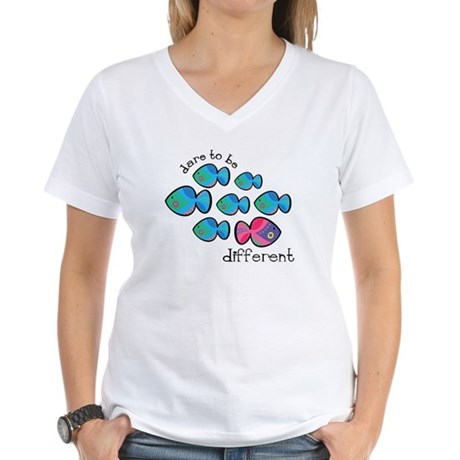 Dare To Be Different Women's V-Neck T-Shirt