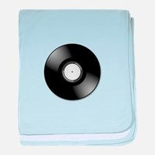 Vinyl disc record baby blanket