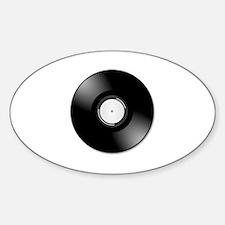 Vinyl disc record Decal