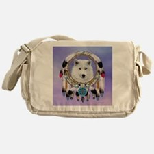 Native American Wolf Spirit Messenger Bag