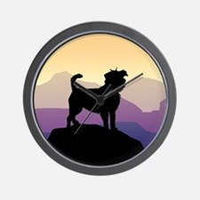Purple Mountains Affenpinscher Wall Clock