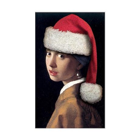 Vermeer Santa Rectangle Sticker