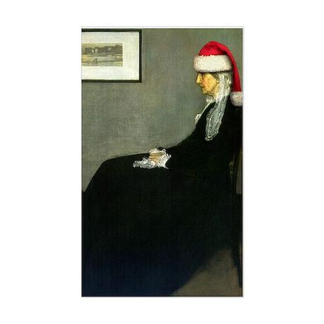 Whistler's Santa Rectangle Sticker