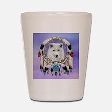 Native American Wolf Spirit Shot Glass