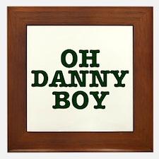 OH DANNY BOY Framed Tile