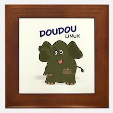 Doudou Linux Logo Contest Framed Tile