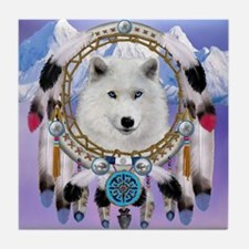 Native American Wolf Spirit Tile Coaster