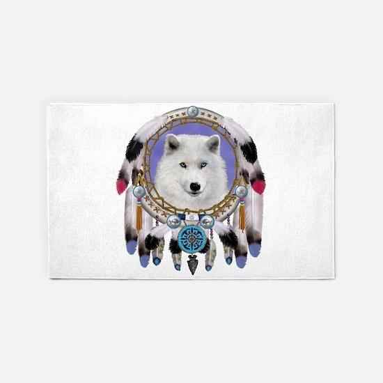 Native American Wolf Spirit Area Rug