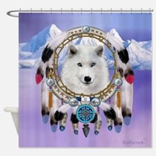 Native American Wolf Spirit Shower Curtain