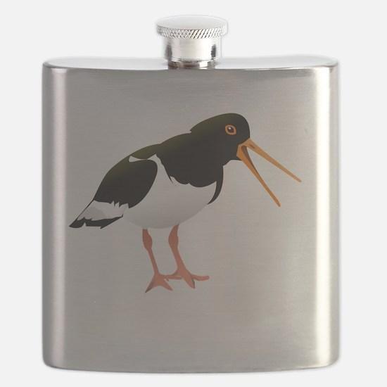 Oyster catcher bird Flask