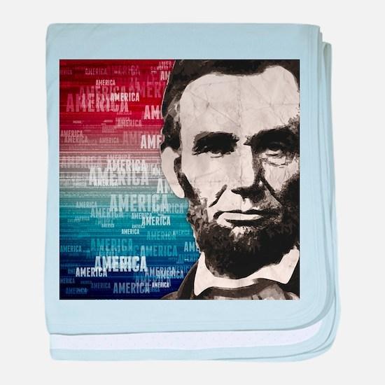 Patriot Abraham Lincoln baby blanket