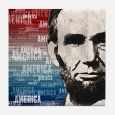 Patriot Abraham Lincoln Tile Coaster