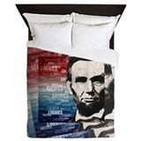 Abraham lincoln Luxe Full/Queen Duvet Cover
