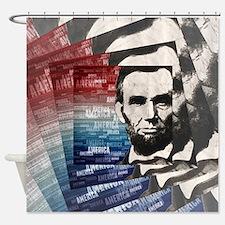 Patriot Abraham Lincoln Shower Curtain