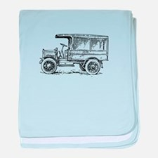 Old medium truck baby blanket
