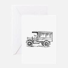 Old medium truck Greeting Cards